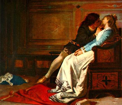 Paolo and Francesca - Dante's Divine Comedy